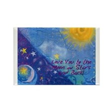 Too Much Love Rectangle Magnet (10 pack)