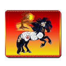 Appaloosa War Pony - backgrou Mousepad