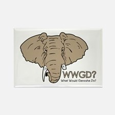 What Would Ganesha Do? Rectangle Magnet (10 pack)