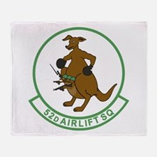 52rd Airlift Squadron Throw Blanket