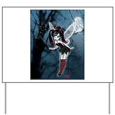 Dark Gothic Fairy Yard Sign