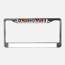 Nautical Portsmouth License Plate Frame
