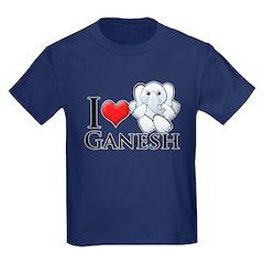 I Heart Ganesh Kids Dark T-Shirt