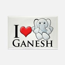 I Heart Ganesh Rectangle Magnet (10 pack)