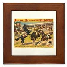 Daring Western Girls Framed Tile