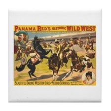 Daring Western Girls Tile Coaster