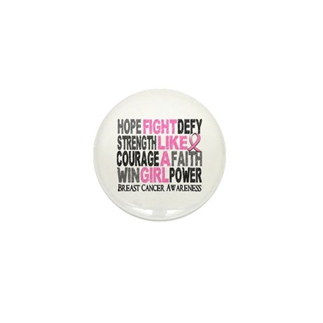 Licensed Fight Like a Girl W Mini Button (10 pack)