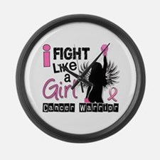 Licensed Fight Like a Girl 26W Large Wall Clock