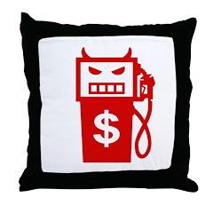 Evil Gas Pump Throw Pillow