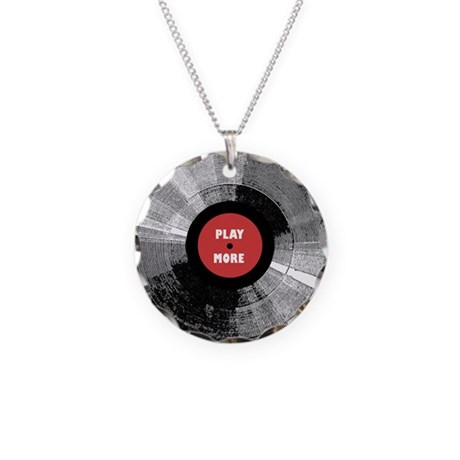Into Vinyl Necklace Circle Charm