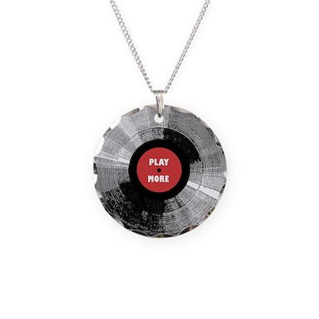 Into Vinyl Necklace Circle Charm