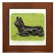 Skye Terrier 8P099D-13 Framed Tile