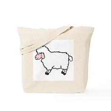 WHITE SHEEP/COLORFUL SHEEP TOTE BAG