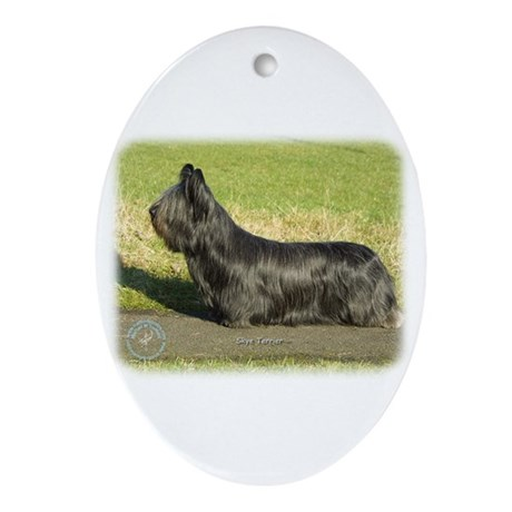 Skye Terrier 9C066D-16 Ornament (Oval)