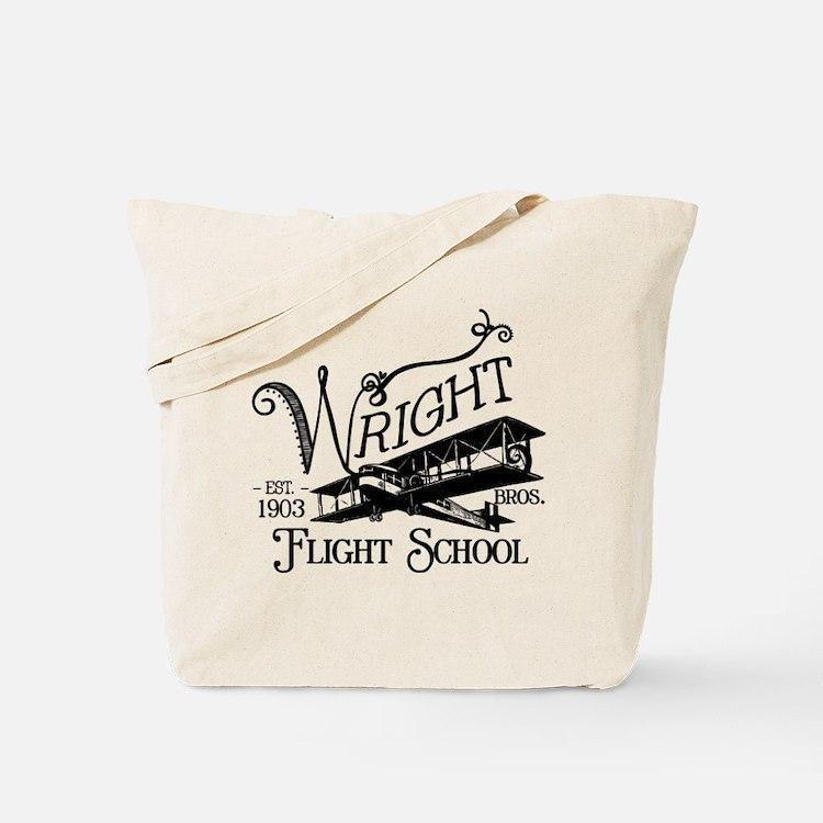 Wright Bros. Flight School Tote Bag