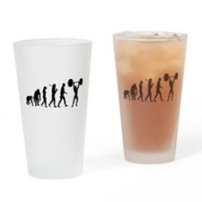 Evolution of Weightlifting Drinking Glass