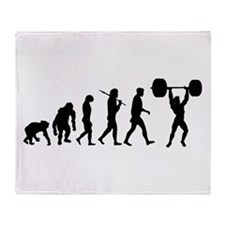 Evolution of Weightlifting Throw Blanket