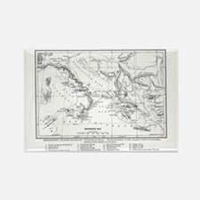 Wanderings of Aeneas Map Rectangle Magnet
