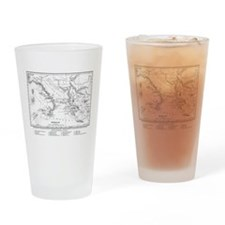 Wanderings of Aeneas Map Drinking Glass