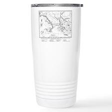 Wanderings of Aeneas Map Travel Mug