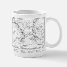 Wanderings of Aeneas Map Mug