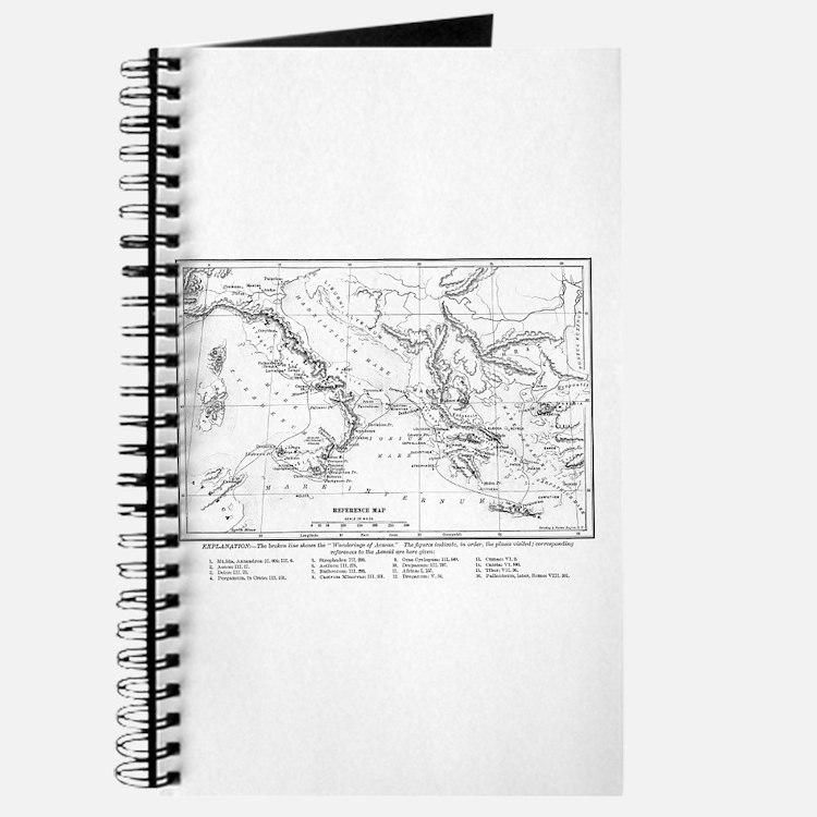 Wanderings of Aeneas Map Journal