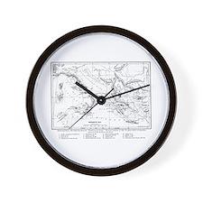 Wanderings of Aeneas Map Wall Clock