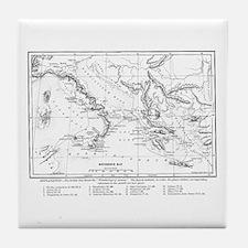 Wanderings of Aeneas Map Tile Coaster