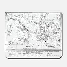 Wanderings of Aeneas Map Mousepad