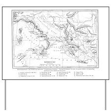 Wanderings of Aeneas Map Yard Sign