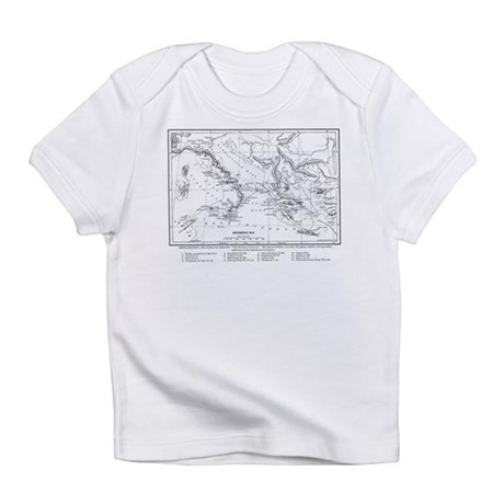 Wanderings of Aeneas Map Infant T-Shirt