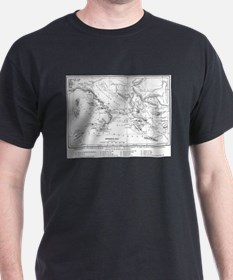 Wanderings of Aeneas Map T-Shirt
