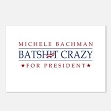Michele Batshit Crazy for President Postcards (Pac