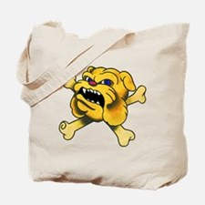 Bulldog Bones Tattoo Tote Bag