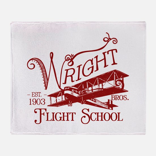 Wright Bros. Flight School (c Throw Blanket