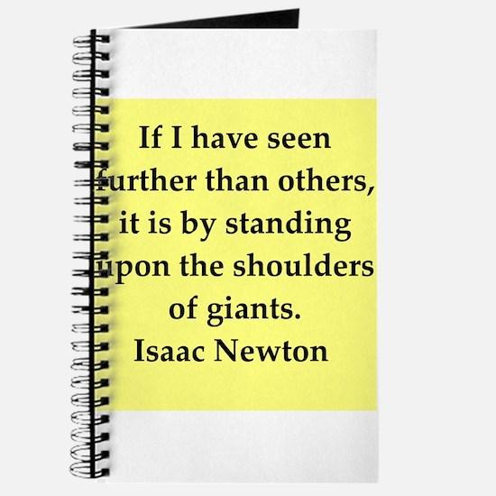 Sir Isaac Newton quotes Journal