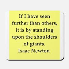 Sir Isaac Newton quotes Mousepad