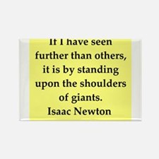 Sir Isaac Newton quotes Rectangle Magnet