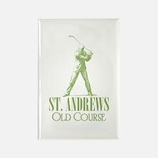 Vintage Golf (Old Course) Rectangle Magnet