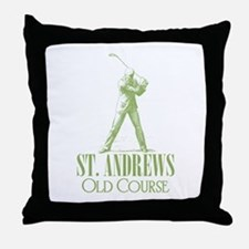 Vintage Golf (Old Course) Throw Pillow