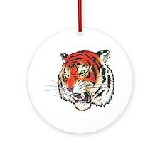 Tiger Tattoo Ornament (Round)