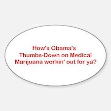 Obama MJ Thumbs-Down! Decal