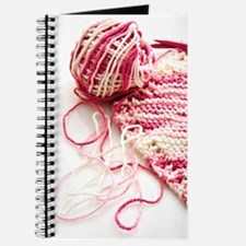Hand Knit Pink Variegated Journal