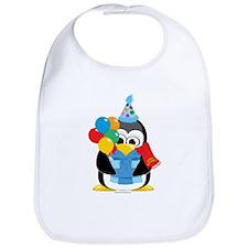 Birthday Penguin Scarf Bib