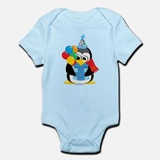 Birthday Penguin Scarf Infant Bodysuit