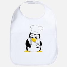 Chef Penguin Scarf Bib