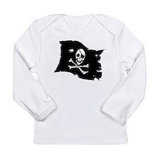 Pirate Flag Tattoo Long Sleeve Infant T-Shirt