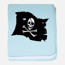 Pirate Flag Tattoo baby blanket