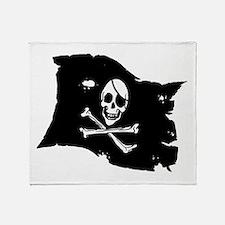 Pirate Flag Tattoo Throw Blanket