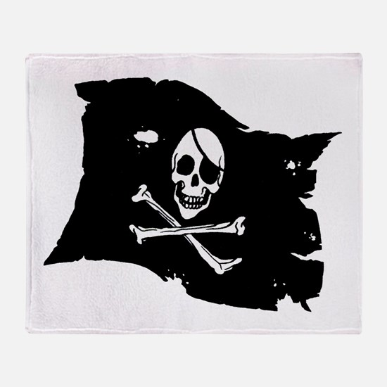 Pirate Flag Tattoo Throw Blanket